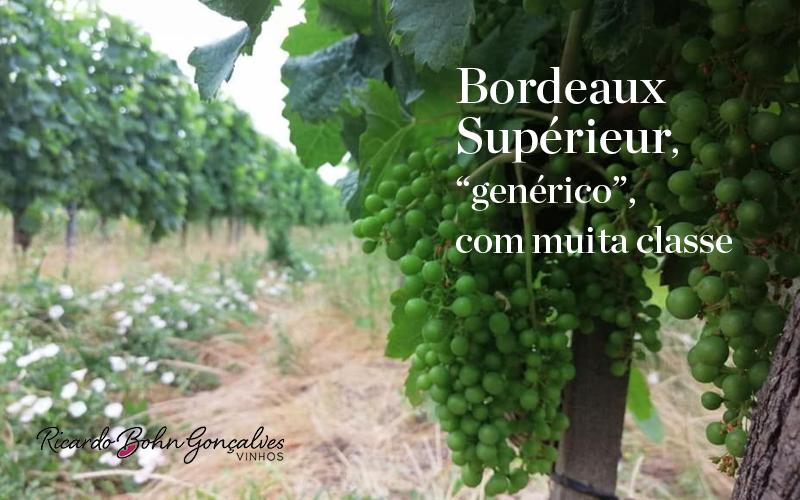 """Bordeaux supérieur, """"genérico"""" com muita classe!"""