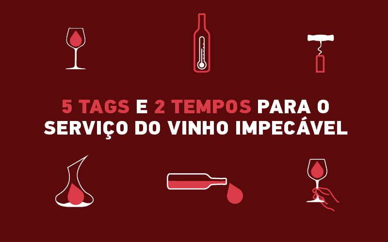 O serviço do vinho: uma arte em 6 tags e 2 tempos